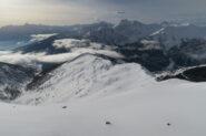 la cresta percorsa dalla Tete de Choume