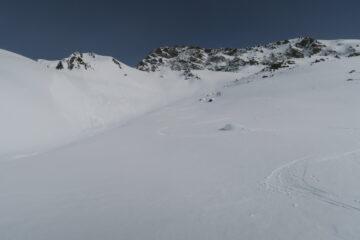 qui neve portante con 2 dita di neve fresca