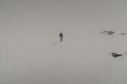 in discesa nella nebbia