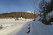 l'alpeggio di Barasson, qui neve abbondante