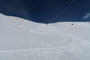 pendio ripido ma con ottima neve