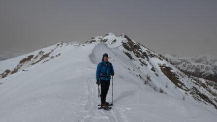 nel primo tratto di cresta verso la Punta Farenga