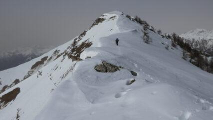 ultimo tratto di cresta per arrivare in cima alla Punta Farenga