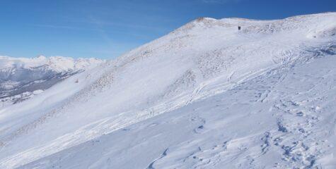 Poca neve in cima