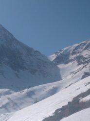 vista sul vallone da risalire per arrivare a Colle forcola