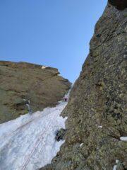 base secondo tiro, partenza su neve