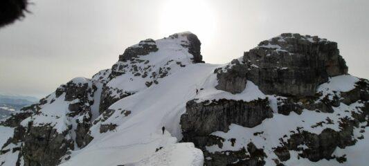 discesa in cresta verso il Bobbio