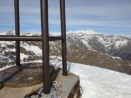 Vista dalla cima sul massiccio del Rosa
