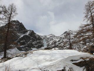 la cascata vista prima di arrivare alla casa di caccia