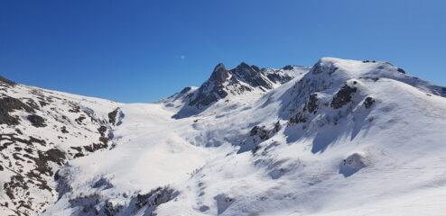 La discesa dal Colletto del Seirasso, vista dal Monte Grosso