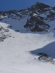 Buona sciata sul ripido versante nord dei 3 Merli