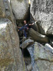 Il buco finale, da attraversare per guadagnare la cima