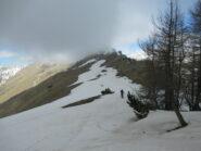 La cresta dopo Rocca Praet