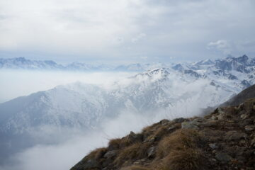 Panorama verso ovest da Punta della Croce