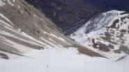 Parte centrale della discesa su ottima neve primaverile