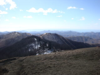 Monte Cremado visto dall'Antola