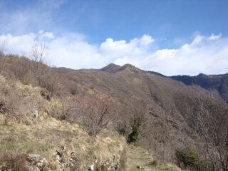 monte Cremado visto dal sentiero di rientro a Chiappa