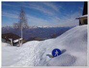 L'altezza della neve all'arrivo della funivia