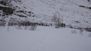 In discesa verso l'Alpe Montejousir