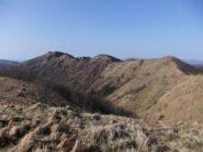 Il crinale verso il Candelozzo dal monte Dragonat