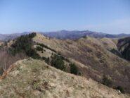 Il crinale percorso visto dal Monte Carmo