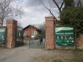 l'ingresso al parco da Druento..