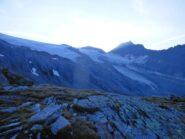 Panorama sul ghiacciaio Mullwitzkees pietosamente arretrato.
