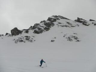 discesa su neve polverosa