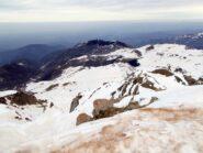 dalla cima ,vista verso Prato Nevoso