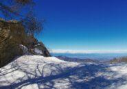 vista sul Monviso e Alpi Cozie dalle pendici dell'Alpet