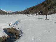 il lungo tratto pianeggiante, oltre Brusà du Plan, della Valle Argentera