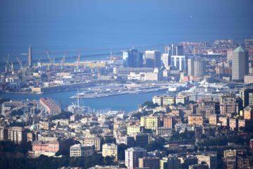 Veduta su Genova dal Forte Richelieu