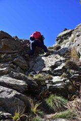Passaggio finale della cresta Sud del Dente