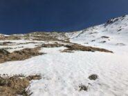 Verso la Punta con poca neve