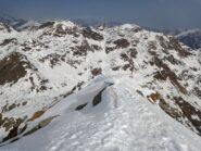 Tratto finale Cima - dietro Monte Rosso  e Camino