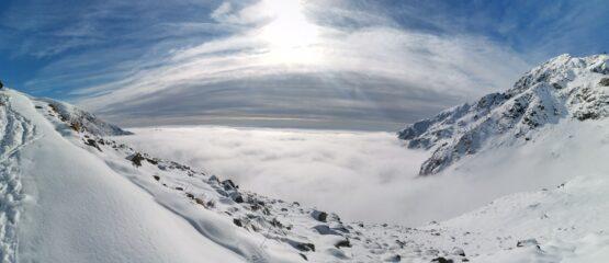 Mare di nuvole dal rif. Savoia