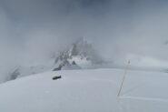 arrivo in vetta con un pò di nebbia