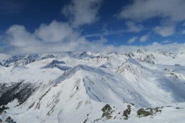 vista dalla cima verso il Flassin