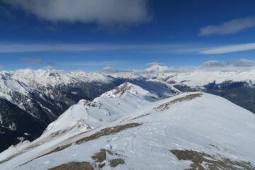 vista dalla cima verso il Bianco