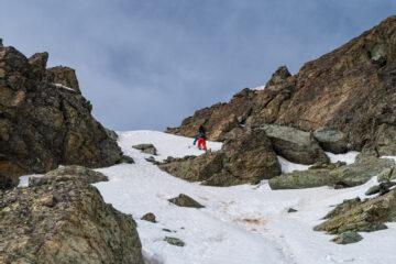 parete del palavas - il passaggio più stretto tra le rocce