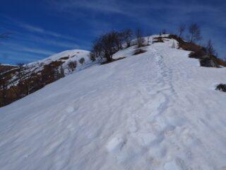 Verso la cima del Monte Ostano.