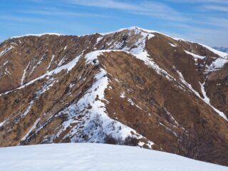 Il MOnte Croce visto dal Monte Ostano.