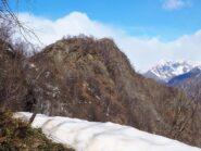 La Cima di Grignano da poco sotto la Cima di Vaso.