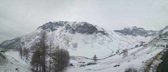 Panoramica sull'alta valle Po