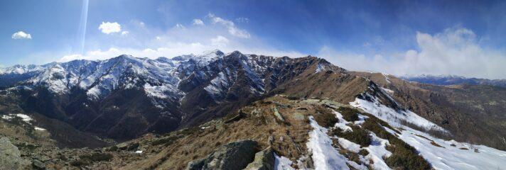 Panorama dalla cima verso ovest