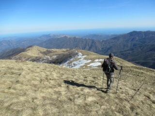 Discesa verso Monte Prearba (m.1443)