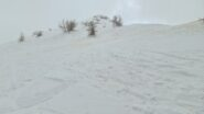 ultima parte della cresta spartiacque prima di raggiungere la cima
