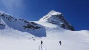 Verso il secondo salto dal quale si accede al ghiacciaio