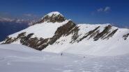I primi 200 mt sotto la vetta con neve ancora leggera