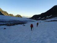 risalendo la prima parte del Glacier de Corbassière